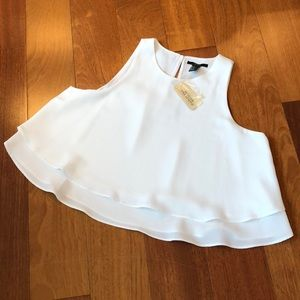 Forever 21 White Crop Top Blouse